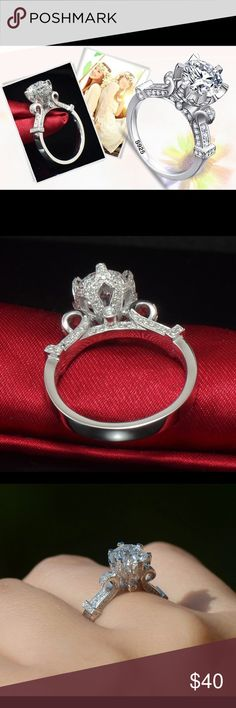 A New  SS SONA  Created Diamond Ring 1 Carat A New  Sterling silver SONA Created Diamond Ring 1 carat Jewelry Rings