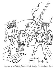 veterans day coloring pages gulf war i desert storm veterans