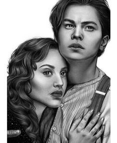 Titanic - Jack and Rose Rose Drawing Pencil, Abstract Pencil Drawings, Realistic Pencil Drawings, Art Drawings Sketches Simple, Portrait Sketches, Titanic Drawing, Titanic Art, Jesus Drawings, Rose Sketch