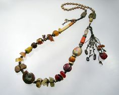 I'm thinking this is one of the best things I've ever done ... Urban Primitive Epic Sun Goddess Necklace OOAK by Kathy Van Kleeck, $450.00
