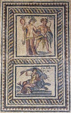 The mosaics that once decorated Zeugma's elite residences often depicted mythological scenes (top), the nymph Galatea (bottom).