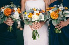 Autumn bouquets: http://www.stylemepretty.com/california-weddings/orange-county/2014/05/22/autumnal-romance-in-southern-california/   Photography: Studio 7 - http://www.studio7photo.net/about/
