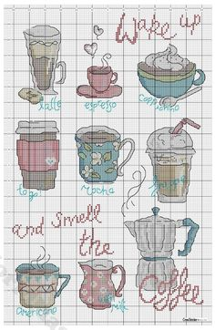 Smell the coffee crossstitchpatern