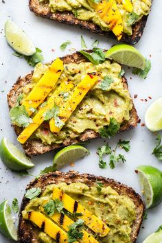 Thick toast topped with Sabra Mango and Lime Veggie Fusion Guacamole.