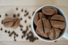 Enjoy the taste of coffee? Then you're going to love these coffee bean cookies. Get the recipe here from Sweet Society