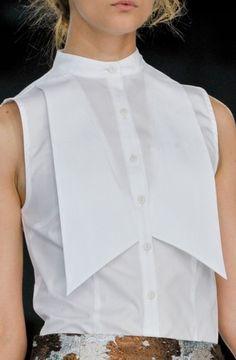 Statement white shirt. http://saragalindo.com/whiteshirt/