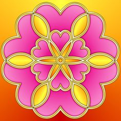 simple_heart_flower_colored.jpg (600×600)