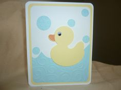 Perfect baby shower handmade card by Wrightcards on Etsy