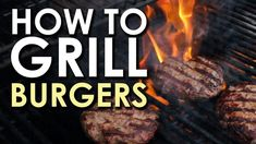 The Art of Grilling: How to Grill a Burger Bbq Burger, Grilling Burgers, Hamburgers, Grilling Tips, Grilling Recipes, Outdoor Grilling, Best Charcoal Grill, Grilled Ham, Man Food