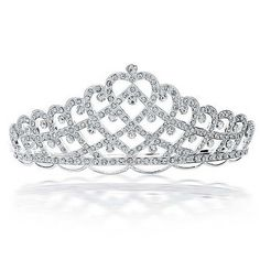 Checkout Crowning Heart Tiara at BlingJewelry.com