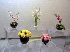 orquídeas, lírios e rosas