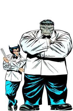 #Hulk #Fan #Art. (Wolverine Vol.2 #8 Cover) By: John Buscema. (Patch & Mr.Fixit) ÅWESOMENESS!!!™ ÅÅÅ+