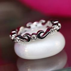Swirl diamond band by David Klass Jewelry.
