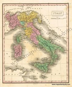 28 Best Antique Maps & Prints of Italy Sicily images