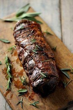 Italienischer Kalbsrollbraten - Rezept (Fleisch Gerichte, Grillen, Ofen, Braten, Backofen, Abendessen, Marinieren, Weihnachtsessen, Hauptspeise, Soße, Schwein, Einfach, Schnell, Kochhaus)