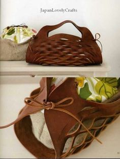 http://www.etsy.com/listing/62418746/cloth-and-leather-bag-japanese-sewing Gotta make this!