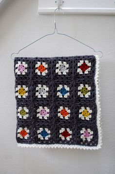 Lovely unusual colour combo for a baby blanket