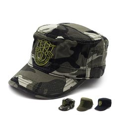 f1ec4a437e2 2017 Hot selling Men Custom camouflage outdoor sport men 3 D embroidery Military  Hats Army Cap