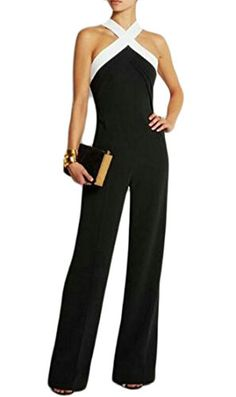 Usstore  Women Lace-up Jumpsuit Summer Fashion Short Sleeve Clubwear Straight Work Leg Pants with Belt