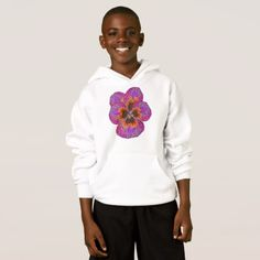 Pansy Flower Psychodelic Abstract Hoodie - cyo diy customize unique design gift idea perfect