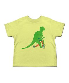 Love this Yellow Dino Tricycle Tee - Toddler & Kids on #zulily! #zulilyfinds