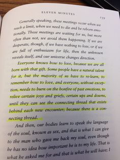 """Another one from Paulo Coelho """"Eleven Minutes"""""""