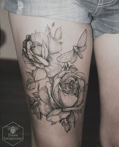 40 thigh tattoo for girl