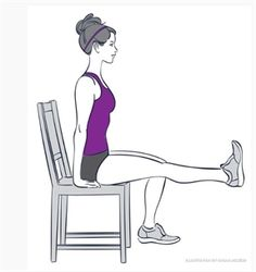 5 exercises that you can do sitting down Knee Pain Exercises, Arthritis Exercises, Chair Exercises, Weight Loss Journal, Weight Loss Program, Senior Fitness, Fitness Tips, Key To Losing Weight, Lose Weight