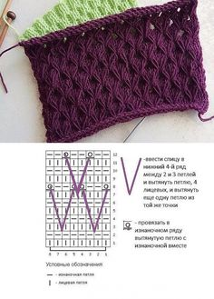 La cinta chiné con los nudos estirados // Катерина Crochet Baby Cocoon, Crochet Yarn, Crochet Stitches, Cable Knitting, Knitting Charts, Hand Knitting, Stitch Patterns, Knitting Patterns, Crochet Patterns