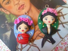 Frida Kahlo handmade with fimo, polymer clay Follow me on my facebook page https://m.facebook.com/LadycupcakeCreazioni