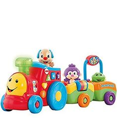The Fisher Price Laugh And Learn Puppys Smart Stages Train is a train toy which is an exciting new way to change learning content as baby grows. Fisher Price, Baby Toys, Kids Toys, Toddler Toys, Mattel, Toy R, Model Trains, Toy Trains, Models