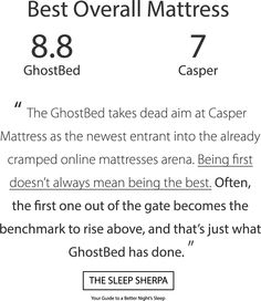Ghostbed Vs Casper Official Review Www Ghostbed Com Supernatural