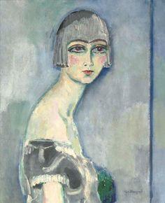 Kees Van Dongen - La perruque d'argent 1919 (73x60cm)
