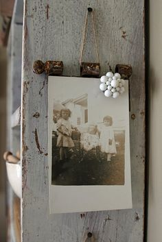Old hinge picture hanger and magnet from vintage jewelry