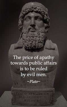 Plato Quote - Apathy
