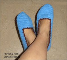 Fashion y Fácil DIY: Cómo tejer slippers, pantuflas o babuchas fáciles, a ganchillo paso a paso. (How to make easy crochet slippers? Step by...