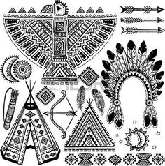 Images For > Native American Eagle Art Native American Patterns, Native American Symbols, Native American Design, American Indian Art, Native American Indians, American History, Native Americans, American Women, Native Design
