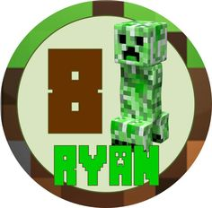 Minecraft Creeper Birthday Iron On Applique  with by SayCheezeBaby, $5.00