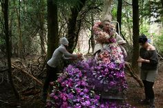 Wonderland - 'The Last Dance of the Flowers' - Kirsty Mitchell Photography Fantasy Photography, Fashion Photography, Kirsty Mitchell, Different Feelings, Last Dance, Flower Frame, Behind The Scenes, Woodland, Fairy Tales
