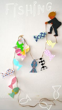 """Super cute. You could make a fish for each student and put their name on it. """"A catch of a great class."""""""