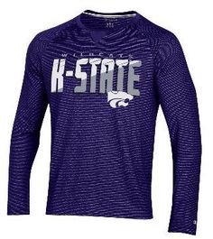 fbba1961d04 Kansas State Wildcats Champion School Pride Long Sleeve Polyester T-Shirt -  2006878. Kansas State WildcatsMens ...