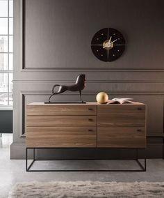 #interiordesign #home #wood #metal #komoda #sideboard #moderndesign #italianfurniture