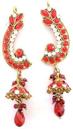 Stunning Bollywood Kalinda Earrings