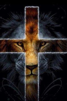 Jesus Christ from the tribe of Judah. Cross Wallpaper, Jesus Wallpaper, Lion Wallpaper, Lion And Lamb, Tribe Of Judah, Jesus Christus, Saint Esprit, Le Roi Lion, Prophetic Art