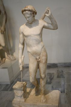Thanatos. Roman copy after an original of the school of Pasiteles. End of 1st century BC. Currently on display in Room 31 of the National Archaeological Museum in Athens. Picture by Giovanni Dall'Orto, November 11 2009.