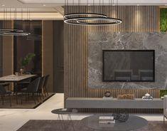 Bedroom on Behance Bedroom Tv Unit Design, Tv Unit Bedroom, Tv Unit Interior Design, Home Room Design, Lcd Wall Design, Wall Mounted Tv Unit, Living Room Decor Tv, Mandir Design, Wall Unit Designs