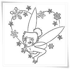 Coloring Tinkerbell Pages Disney