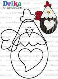 a chicken with big heart Applique Templates, Applique Patterns, Applique Quilts, Applique Designs, Embroidery Applique, Hand Quilting Patterns, Felt Patterns, Sewing Patterns, Chicken Quilt