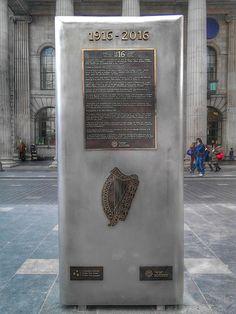 Bronze proclamation facing the GPO, Dublin