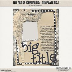 The Art of Journaling: Template 1